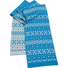 Icebreaker Crystal Scarf - Merino Wool, Reversible (For Women) in Bone/Belize - Closeouts