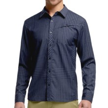 Icebreaker Departure Plaid Shirt - Merino Wool, Long Sleeve (For Men) in Admiral/Fathom Heather - Closeouts