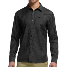 Icebreaker Departure Plaid Shirt - Merino Wool, Long Sleeve (For Men) in Black/Jet Heather - Closeouts