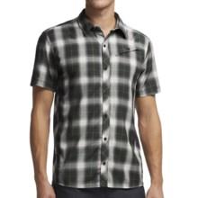 Icebreaker Departure Plaid Shirt - Merino Wool, UPF 30+, Short Sleeve (For Men) in Monsoon/Metro - Closeouts