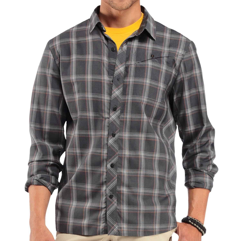 Icebreaker departure plaid shirt for men save 71 for Merino wool shirt long sleeve