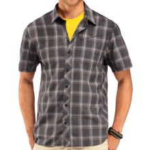 Icebreaker Departure Plaid Shirt - UPF 30, Merino Wool, Short Sleeve (For Men) in Monsoon - Closeouts