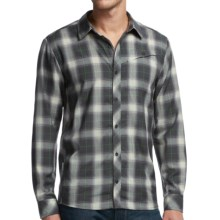 Icebreaker Departure Plaid Shirt - UPF 30+, Merino Wool, Long Sleeve (For Men) in Monsoon - Closeouts
