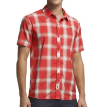 Icebreaker Departure Plaid Shirt - UPF 30+, Merino Wool, Short Sleeve (For Men) in Clay - Closeouts