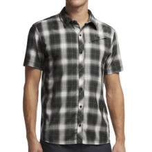 Icebreaker Departure Plaid Shirt - UPF 30+, Merino Wool, Short Sleeve (For Men) in Monsoon/Metro - Closeouts