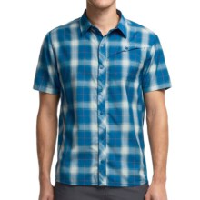 Icebreaker Departure Plaid Shirt - UPF 30+, Merino Wool, Short Sleeve (For Men) in Petrol - Closeouts