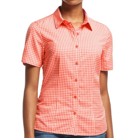 Icebreaker Destiny Check Shirt UPF 30+, Merino Wool, Short Sleeve (For Women)