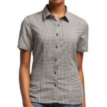 Icebreaker Destiny Check Shirt - UPF 30+, Merino Wool, Short Sleeve (For Women) in Monsoon - Closeouts