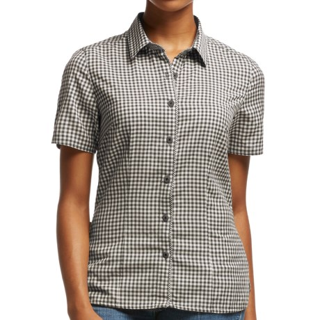 Image of Icebreaker Destiny Check Shirt - UPF 30+, Merino Wool, Short Sleeve (For Women)
