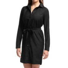 Icebreaker Destiny Shirt Dress - UPF 30+, Merino Wool, Long Sleeve (For Women) in Black - Closeouts