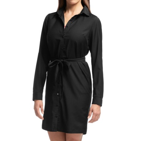 Icebreaker Destiny Shirt Dress UPF 30 Merino Wool Long Sleeve For Women