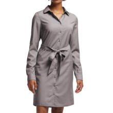 Icebreaker Destiny Shirt Dress - UPF 30+, Merino Wool, Long Sleeve (For Women) in Chrome - Closeouts