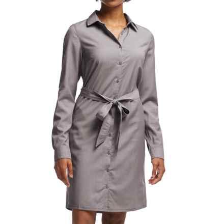 Icebreaker Destiny Shirt Dress - UPF 30+, Merino Wool, Long Sleeve (For Women) in Chrome - Closeouts