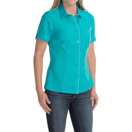Icebreaker Destiny Shirt - UPF 30+, Merino Wool, Short Sleeve (For Women) in Aquamarine/Aquamarine - Closeouts