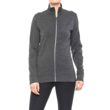 Icebreaker Dias Zip Shirt Jacket - Merino Wool, Long Sleeve (For Women) in Jet Heather - Closeouts