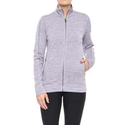 Icebreaker Dias Zip Shirt Jacket - Merino Wool, Long Sleeve (For Women) in Silk Heather - Closeouts