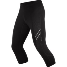Icebreaker Drive 3/4 Tights - Merino Wool (For Men) in Black - Closeouts