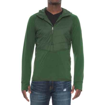 Icebreaker Ellipse MerinoLOFT Hoodie - Merino Wool, Neck Zip (For Men) in Scout/Scout/Scout - Closeouts