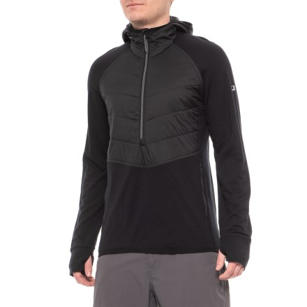 a0699801d4 Icebreaker Ellipse MerinoLOFT Hoodie - Merino Wool, Neck Zip, Long Sleeve  (For Men