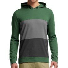 Icebreaker Escape Hoodie - Merino Wool, UPF 20+ (For Men) in Conifer/Metal/Black - Closeouts