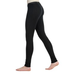 Icebreaker Everyday 200gm Thermal Base Layer Bottoms - UPF 50+, Lightweight, Merino Wool (For Women) in Black