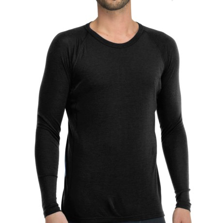 Icebreaker Everyday Base Layer Top - Crew Neck, Long Sleeve (For Men) in Black