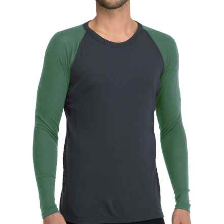 Icebreaker Everyday Base Layer Top - Crew Neck, Long Sleeve (For Men) in Stealth/Canoe - Closeouts