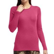 Icebreaker Everyday Base Layer Top - Merino Wool, Lightweight,  Long Sleeve (For Women) in Magenta - Closeouts