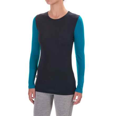 Icebreaker Everyday Base Layer Top - Merino Wool, Lightweight,  Long Sleeve (For Women) in Stealth/Alpine - Closeouts