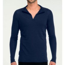 Icebreaker Everyday Base Layer Top - Merino Wool, Zip Neck, Long Sleeve (For Men) in Planet - Closeouts