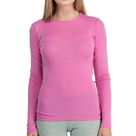 Icebreaker Everyday Base Layer Top - UPF 30+, Lightweight, Merino Wool, Long Sleeve (For Women) in Peony