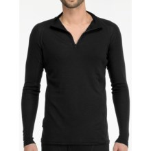 Icebreaker Everyday Base Layer Top - Zip Neck, Long Sleeve (For Men) in Black - Closeouts
