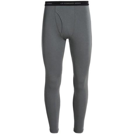 Icebreaker Everyday Bodyfit 200 Base Layer Bottoms - UPF 20+, Lightweight, Merino Wool (For Men) in Cave