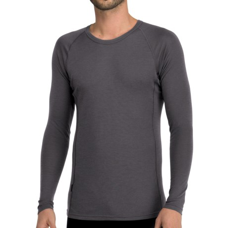 Icebreaker Everyday Bodyfit 200 Crew Neck Shirt - UPF 20+, Merino Wool, Long Sleeve (For Men) in Cave