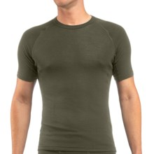 Icebreaker Everyday Bodyfit 200 Crew Neck Shirt - UPF 20+, Merino Wool, Short Sleeve (For Men) in Cargo - Closeouts