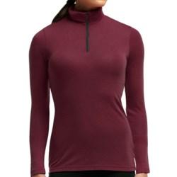 Icebreaker Everyday Zip Neck Base Layer Top - Merino Wool, Lightweight, Long Sleeve (For Women) in Sangria