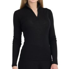 Icebreaker Everyday Zip Neck Base Layer Top - UPF 30+, Lightweight, Merino Wool, Long Sleeve (For Women) in Black - Closeouts