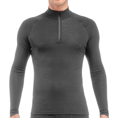 Icebreaker Everyday Zip Neck Shirt - UPF 20+, Merino Wool, Lightweight, Long Sleeve (For Men) in Cave