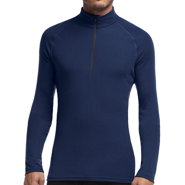 Icebreaker everyday zip neck shirt upf 20 merino wool for Merino wool shirt long sleeve
