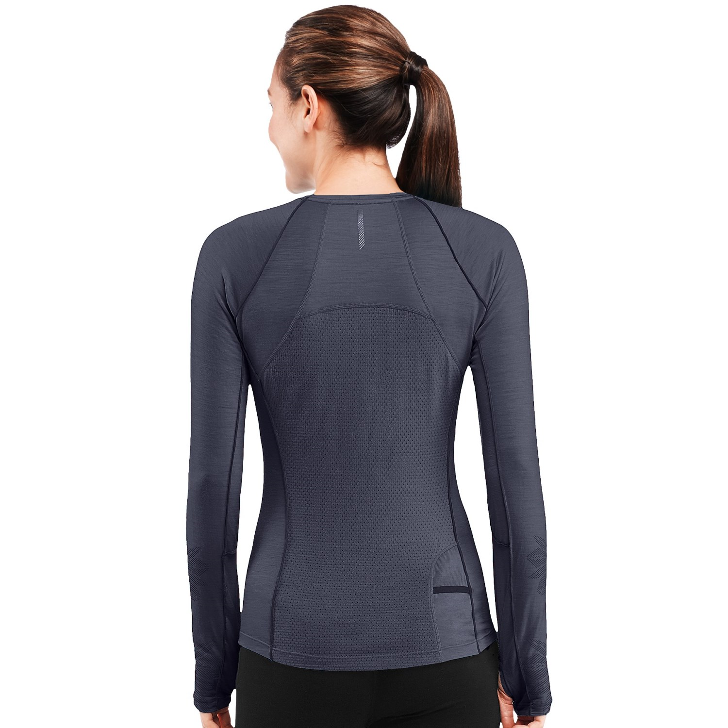 Icebreaker flash running shirt for women 7502m save 72 for Merino wool shirt womens