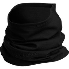 Icebreaker Flexi Chute Neck Gaiter - Merino Wool (For Men and Women) in Black - Closeouts