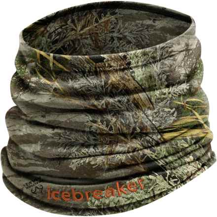 Icebreaker Flexi Chute Realtree® Neck Warmer - Merino Wool (For Men and Women) in Real Tree Max - Closeouts