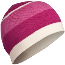 Icebreaker Glacier Hat - Merino Wool (For Men and Women) in Cerise/Snow - Closeouts