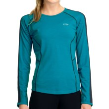 Icebreaker GT 150 Run Quest T-Shirt - Merino Wool, Long Sleeve (For Women) in Gulf - Closeouts