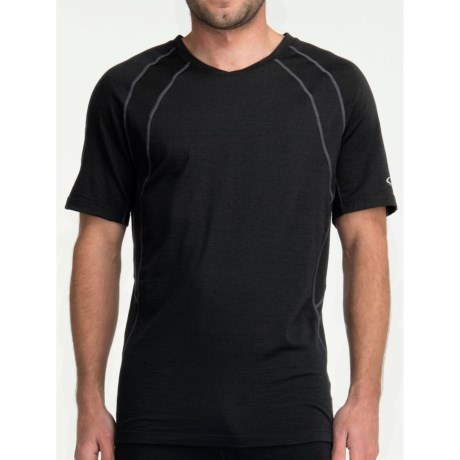 Icebreaker GT 150 Run Quest T-Shirt - Merino Wool, Short Sleeve (For Men) in Black