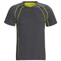Icebreaker GT 150 Run Quest T-Shirt - Merino Wool, Short Sleeve (For Men) in Monsoon
