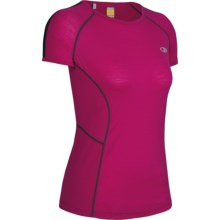 Icebreaker GT 150 Run Quest T-Shirt - Merino Wool, Short Sleeve (For Women) in Cerise - Closeouts
