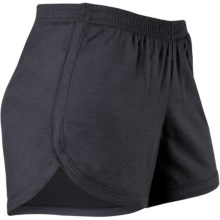 Icebreaker GT 150 Run Stride Shorts - UPF 50+, Merino Wool (For Women) in Panther - Closeouts