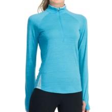Icebreaker GT 200 Pace Base Layer Top - Merino Wool, Zip Neck, Long Sleeve (For Women) in Glacier/Teardrop - Closeouts