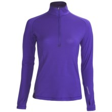 Icebreaker GT 200 Pace Base Layer Top - Merino Wool, Zip Neck, Long Sleeve (For Women) in Mystic - Closeouts